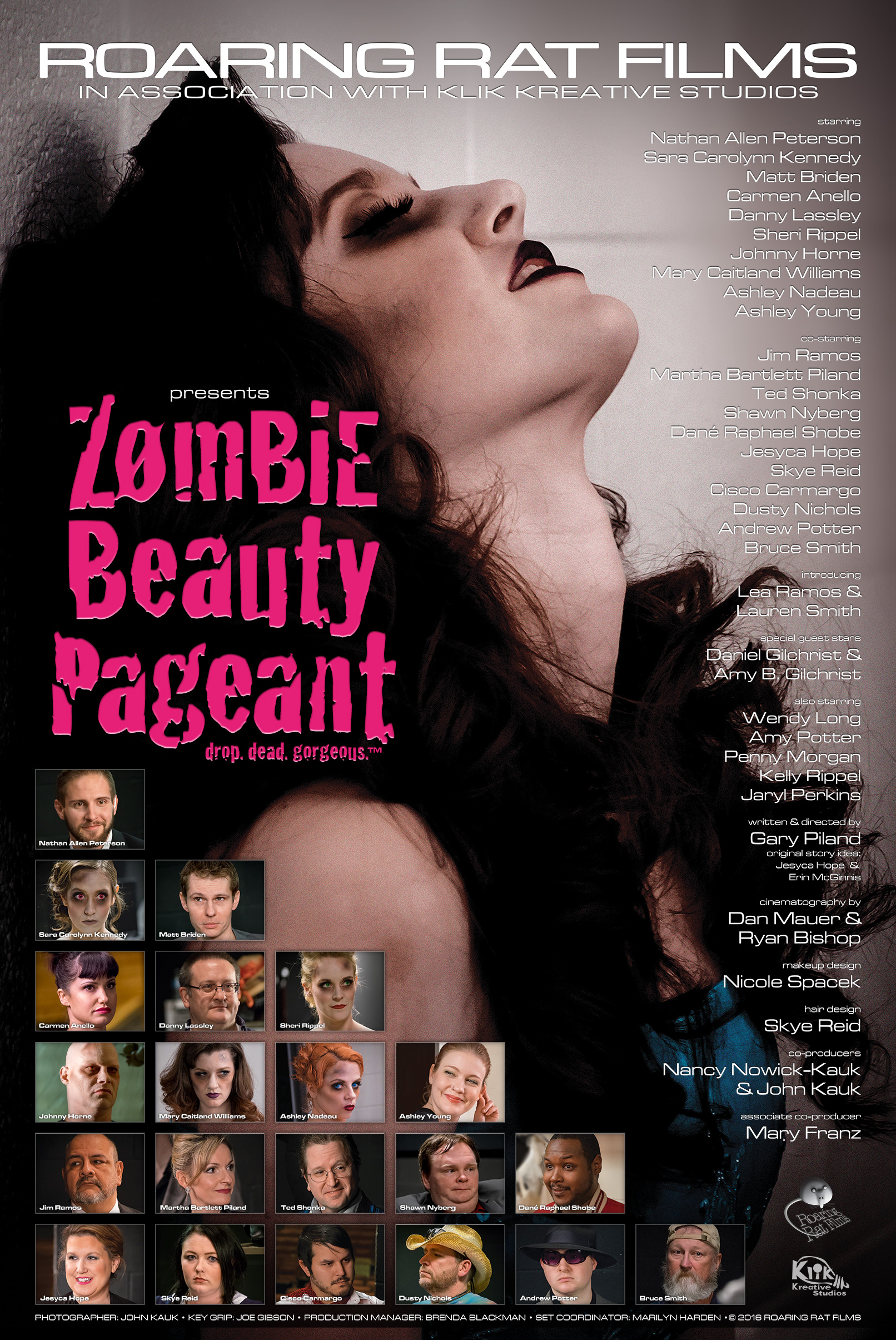 """Zombie Beauty Pageant - Drop. Dead. Gorgeous."" Poster"